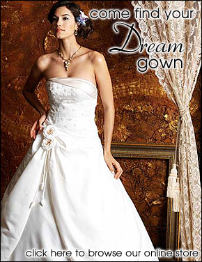 Enter our wedding dress store