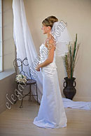 "Custom Wedding Veil -- 15"" x 20"" 2 Tier Shoulder Length Veil"