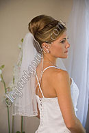 "Custom Wedding Veil -- 20"" 1 Tier Shoulder Length Veil"