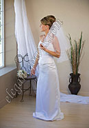 "Custom Wedding Veil -- 20"" x 25"" 2 Tier Elbow Length Veil"