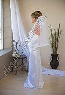 "Custom Wedding Veil -- 25"" 1 Tier Elbow Length Veil"