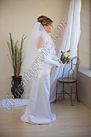 "Custom Wedding Veil -- 30"" x 36"" 2 Tier Fingertip Length Veil"