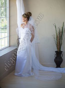 "Custom Wedding Veil -- 30"" x 90"" 2 Tier Chapel Length Veil"