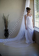 "Custom Wedding Veil -- 90"" 1 Tier Chapel Length Veil"