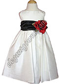 Bella Flower Girl Dress Black Sash