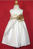 Bella Flower Girl Dress Champagne Sash