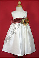 Bella Flower Girl Dress Chocolate Sash