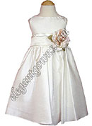 Clearance Bella Flower Girl Dress Ivory Sash