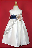 Bella Flower Girl Dress Navy Sash