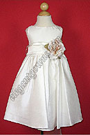 Bella Flower Girl Dress White Sash