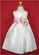 Bella Flower Girl Dress Pink Sash