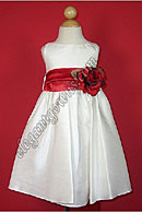Bella Flower Girl Dress Red Sash