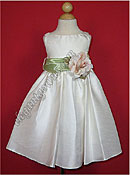 Bella Flower Girl Dress Sage Sash