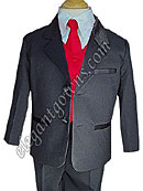 Crimson Red Vest & Tie Ring Bearer Suit
