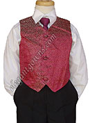 Gold & Red Vest & Tie Ring Bearer Suit