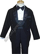 Sammi Traditional Ring Bearer Tuxedo With Tails