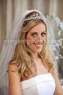 Bridal Headpiece with Wedding Veil 2844