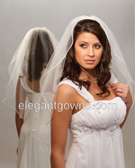 Clearance Ivory Waist Length Wedding Veil 2012-18_C