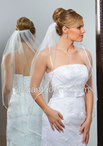 Clearance White Fingertip Wedding Veil 2011-17_C