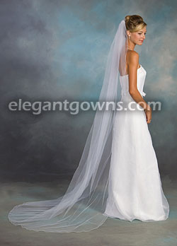 bae9aa89aeb01 1 Tier Chapel Length Corded Pencil Edge Wedding Veil 7-901-C  7-901 ...