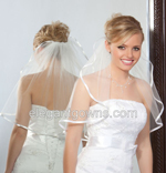 Clearance Ivory Waist Length Wedding Veil 2012-15_C