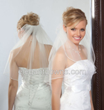 1 Tier Shoulder Length Soutache Edge Wedding Veil