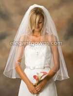 Clearance White Fingertip Length Wedding Veil 2012-4_C