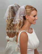 1 Tier Neck Length Wedding Veils