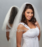 1 Tier Elbow Length Veils