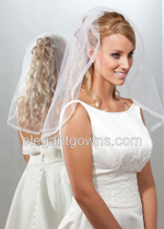 Clearance - Ivory Elbow Length Wedding Veil 2011-3_C