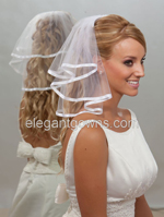 "Custom Wedding Veil -- 10"" x 15"" 2 Tier Neck Length Veil"