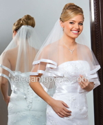2 Tier Elbow Length Veils