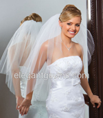2 Tier Waist Length Veils