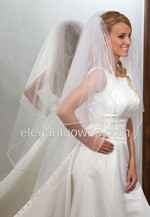 2 Tier Knee Length Veils