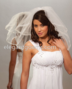 Clearance Ivory Waist Length Wedding Veil 2012-13_C