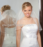 2 Tier Shoulder Length Veils