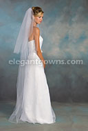 Clearance White Floor Length Wedding Veil 2011-12_C