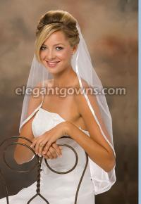 3/8 inch ribbon edge wedding veil