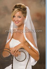 7/8 inch ribbon wedding veil