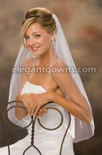 Corded Pencil Edge Wedding Veil
