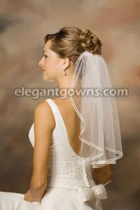 Double Soutache Edge Wedding Veil