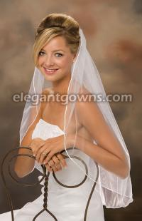 Rattail Edge Wedding Veil