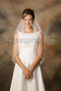 Rhinestone edge wedding veil