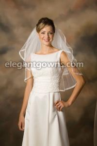 Sheer Ribbon 1 Wedding Veil