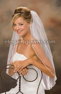 Soutache Edge Wedding Veil