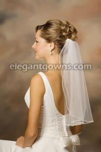 Tiny Rhinestone Edge Wedding Veil