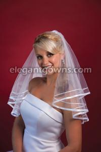 Double Ribbon Edge Wedding Veil