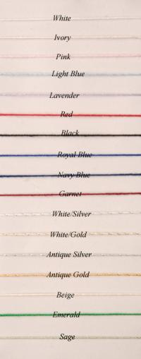 Colored Corded Pencil Edge Chart