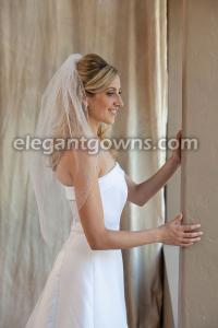 Metallic Serged Edge Wedding Veil