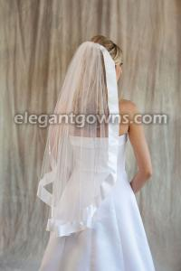 "2"" Ribbon Edge Wedding Veil"